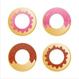 Set of 4 donuts Stock Photo
