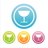 Set of 4 drink signs Stock Image