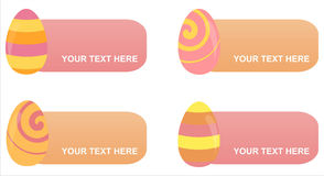 Set of 4 easter eggs frames Royalty Free Stock Images