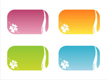 Set of 4 floral frames Stock Image