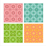 Set of 4 floral patterns Stock Photos