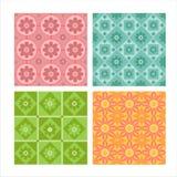 Set of 4 floral patterns Stock Photos