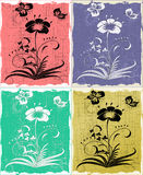 Set 4 flowers. Set of 4 flowers, illustration Royalty Free Stock Image