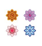 Set of 4 flowers Royalty Free Stock Photography