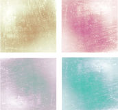 Set of 4 glossy backgrounds Royalty Free Stock Photography