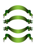 Set of 4 green banners Royalty Free Stock Photos