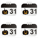 Set of 4 halloween icons. Set of 4 halloween calendar icons Royalty Free Stock Photography
