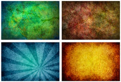 Set of 4 High Resolution Texture Backgrounds Stock Photography