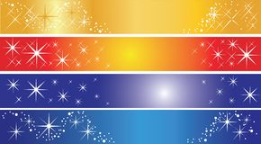 Set of 4 holiday banners Stock Image