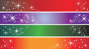 Set of 4 holiday banners. Useful also as greeting cards. Eps file available Royalty Free Stock Image