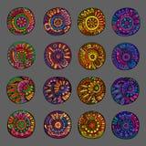 Set 4 koloru kwiecistego projekta elementu Obrazy Royalty Free