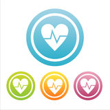 set of 4 medical hearts signs Royalty Free Stock Image