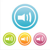 Set of 4 music signs Stock Photos