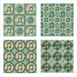 Set of 4  musical patterns Stock Photo