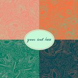 Set of 4 paisley seamless backgrounds. This is file of EPS8 format Royalty Free Stock Photo