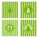 Set of 4  pear backgrounds Royalty Free Stock Image