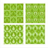 Set of 4  pear patterns Stock Image