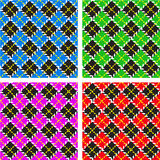 Set of 4 plaid patterns Stock Photos
