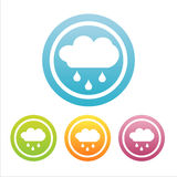 Set of 4 rain signs Royalty Free Stock Photography