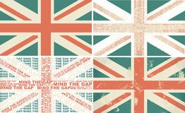 Set of 4 retro flags of the UK in vector Stock Image