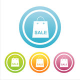 Set of 4 sale bags signs Stock Image