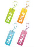 Set of 4 sale tags Stock Photos
