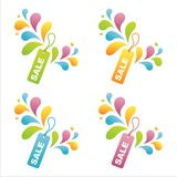 Set of 4 sale tags Royalty Free Stock Image