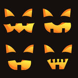 Set of 4 scary smiles Royalty Free Stock Images