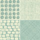 Set of 4 seamless backgrounds Stock Images