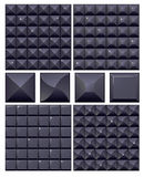 Set of 4 seamless black mosaic Royalty Free Stock Images