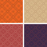 Set of 4 seamless patterns Stock Photography