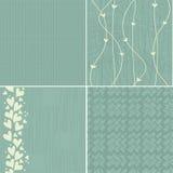 Set of 4 seamless patterns Royalty Free Stock Image