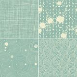 Set of 4 seamless texture patterns Stock Images