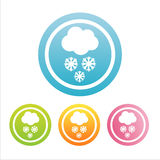 Set of 4  snow signs Royalty Free Stock Images