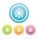 set of 4 snowflakes signs Stock Images