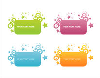 Set of 4 star frames Stock Photo