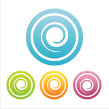 Set of 4 swirl signs. Set of 4 colorful swirl signs Stock Image