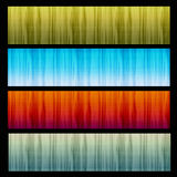 Set of 4 Texture Banners Stock Image