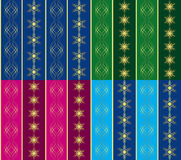 Set of 4 vector seamless christmas textures Royalty Free Stock Images