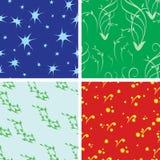Set of 4 vector seamless textures. Set of 4  seamless textures Stock Photos