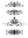 Set of 4 vintage decorative headers Royalty Free Stock Photo
