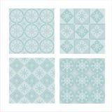Set of 4  winter patterns Stock Photo