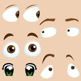Set of 5 cartoon eyes. Royalty Free Stock Image