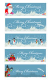 Set of 5 christmas banners Stock Image
