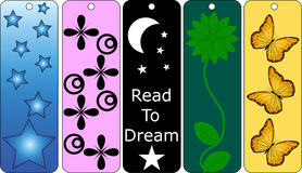 Set of 5 Colorful Bookmarks Stock Image