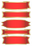 Set of 5 red banners Royalty Free Stock Photo