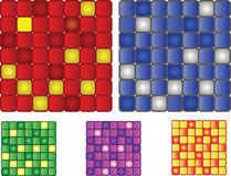 Set of 5 vector squares patter Royalty Free Stock Photography