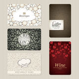 Set of 5 vertical business cards Royalty Free Stock Images