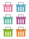 Set of 6 baskets icons Stock Photography