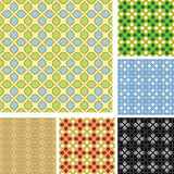 Set of 6 colored patterns for background - vector Royalty Free Stock Photography